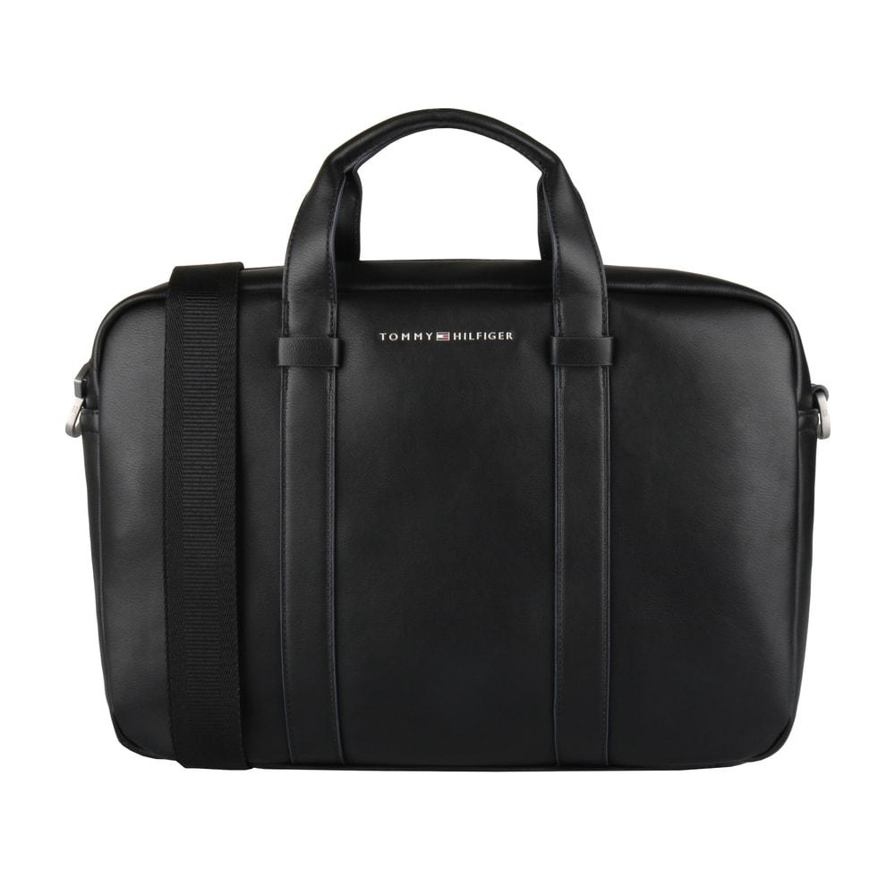 Tommy Hilfiger Pánská taška na notebook TH City AM0AM01759 - černá
