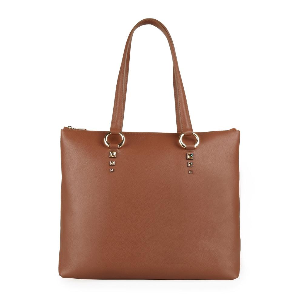 Elega by Dana M Dámská velká shopper kabelka přes rameno Maternity 69452 - karamel
