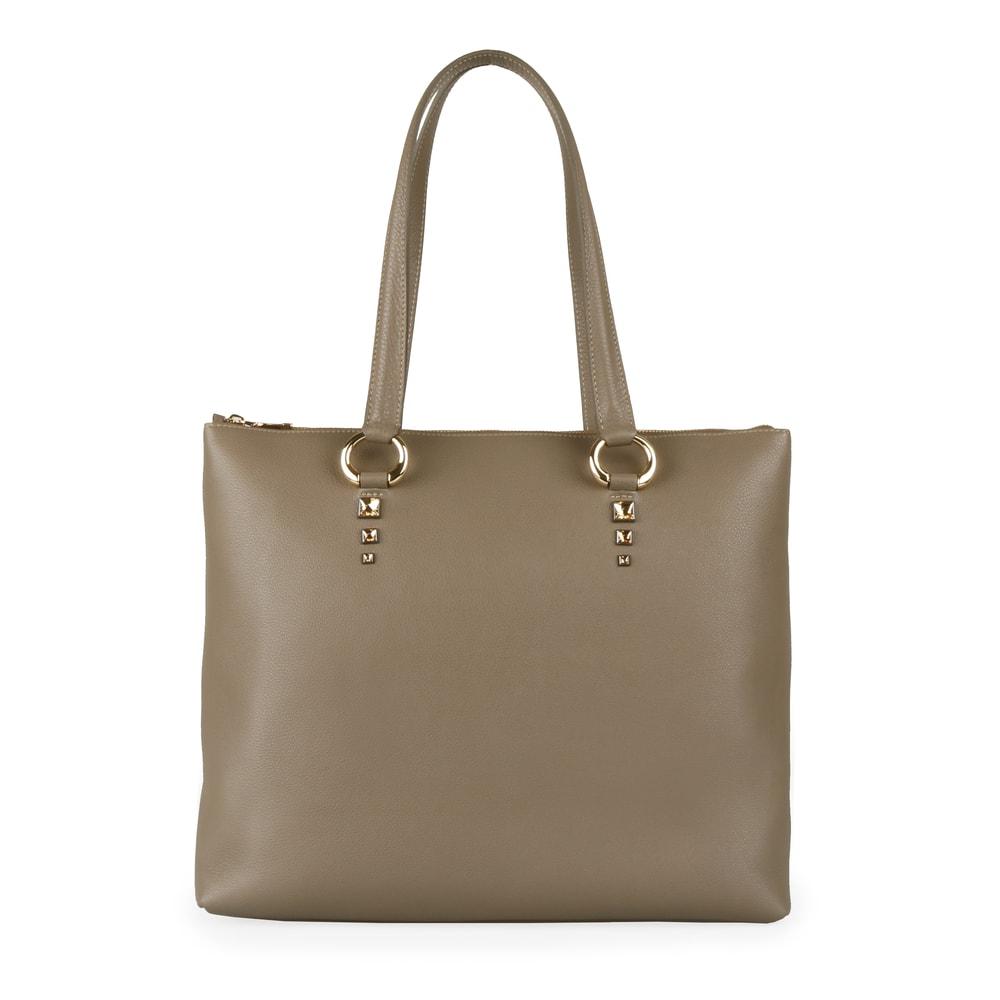 Elega by Dana M Dámská velká shopper kabelka přes rameno Maternity 69452 - taupe