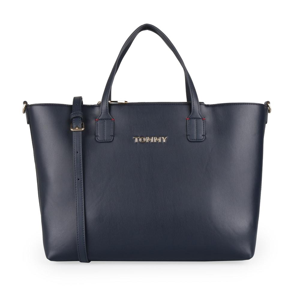 Tommy Hilfiger Dámská shopper kabelka Iconic Tommy AW0AW07478 - tmavě modrá