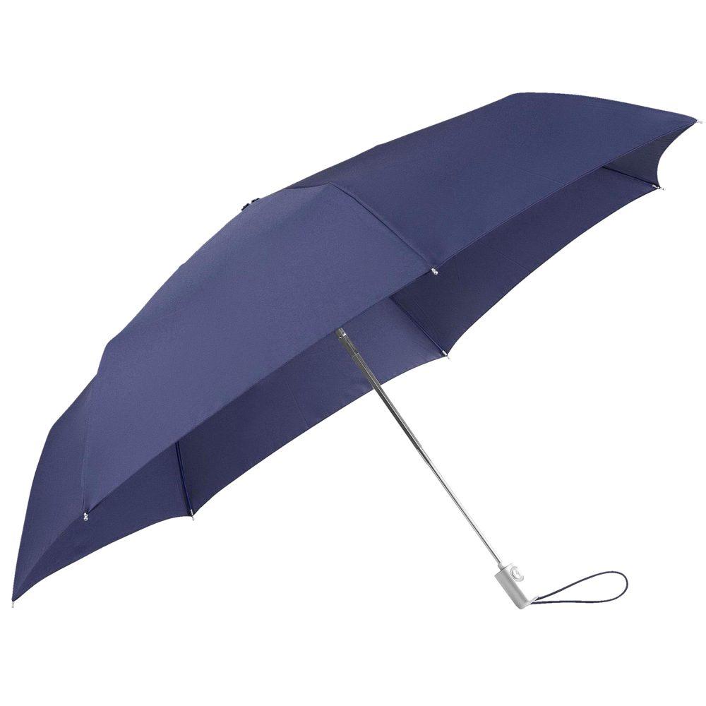 Samsonite Skládací automatický deštník Alu Drop S Slim - tmavě modrá