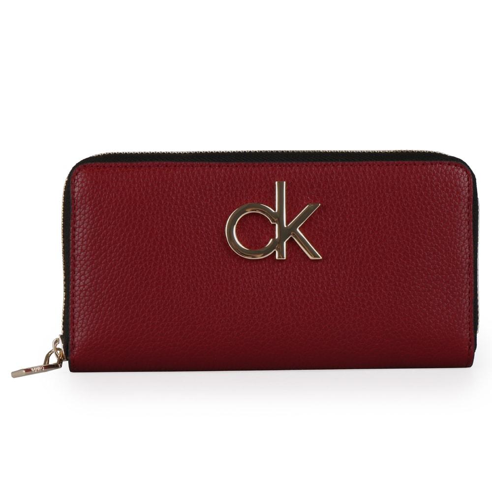 Calvin Klein Velká dámská peněženka Re-Lock K60K605684 - vínová