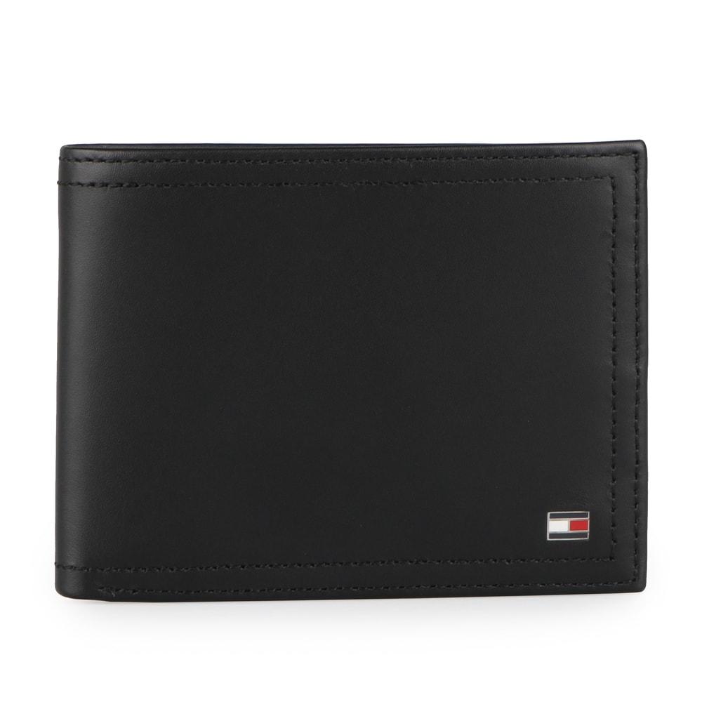 Tommy Hilfiger Pánská kožená peněženka Harry CC Flap And Coin AM0AM01259 - černá