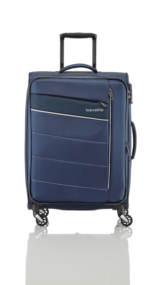 Travelite Cestovní kufr Kite 4w L Navy 89949-20 95/109 l