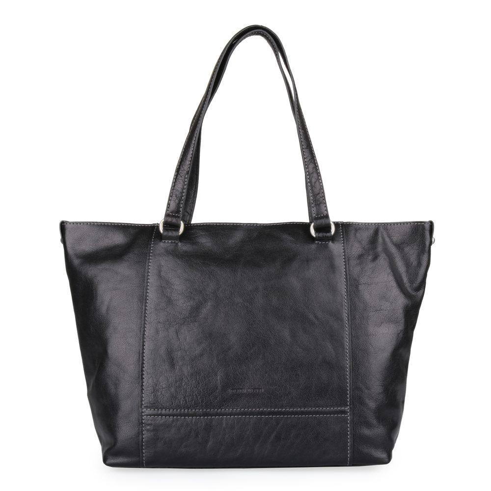 Gerry Weber Dámská kožená kabelka přes rameno Lugano 4080003657 - černá
