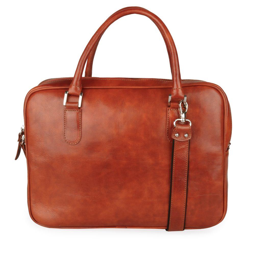 Sněžka Náchod Dámská kožená taška do ruky 5101 - rezavá