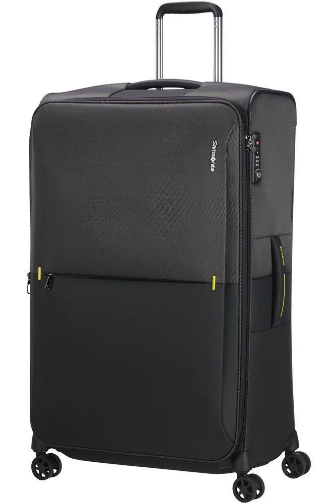 Levně Samsonite Látkový cestovní kufr Rythum EXP 108/114 l - tmavě šedá