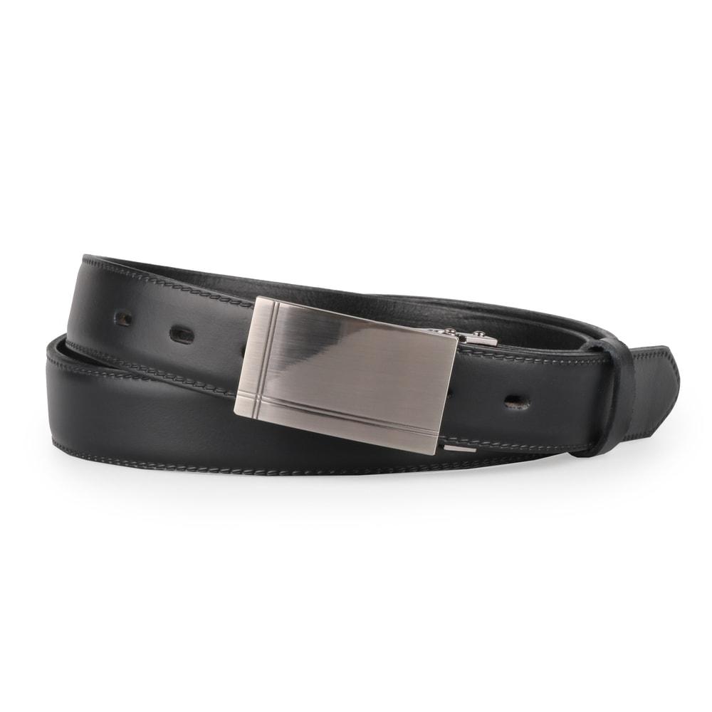 Penny Belts Pánský kožený společenský opasek s plnou sponou 30-020-5PS-60 černý - 100