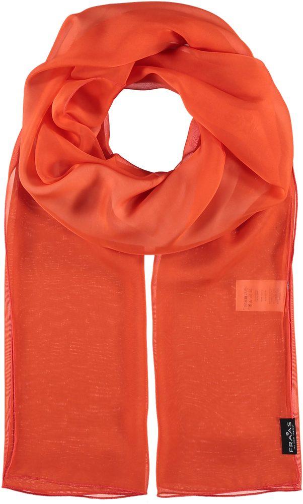Fraas Dámský hedvábný obdélníkový šátek 622180 - oranžová