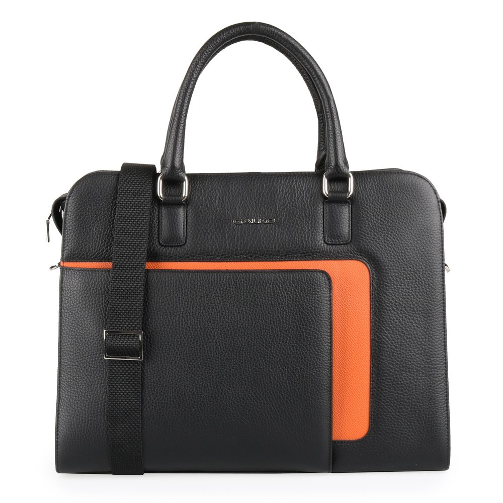 GALKO Dámská kožená taška na notebook 13-0566 - černá