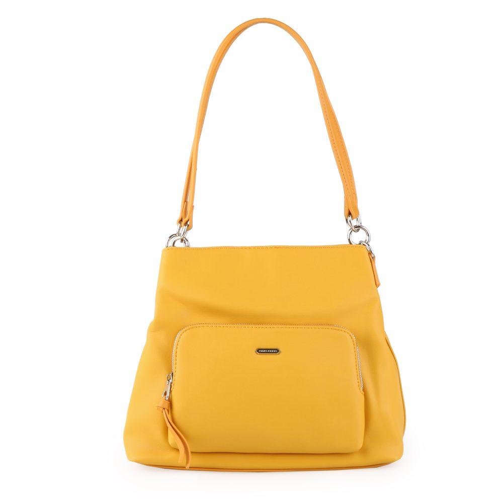 David Jones Paris Dámská kabelka přes rameno 6299-3 - žlutá