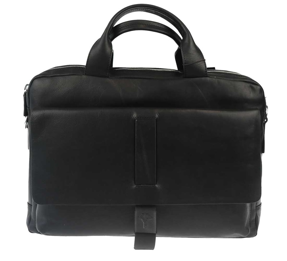 JOOP! Pánská kožená taška přes rameno Loreto 4140003463 - černá