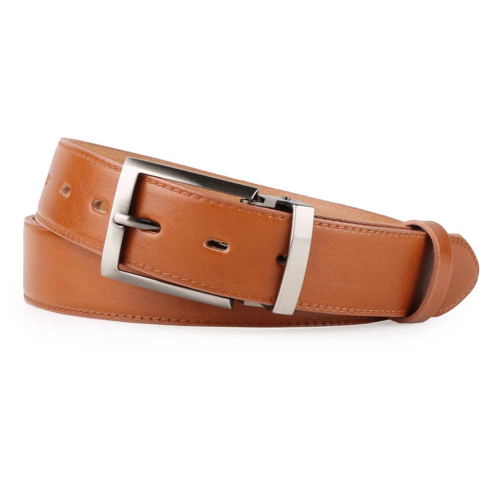 Penny Belts Pánský kožený opasek 35-020-1-42 světle hnědý - 115