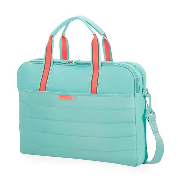 """American Tourister Dámská taška na notebook Uptown Vibes 64G 15.6"""" - tyrkysová"""