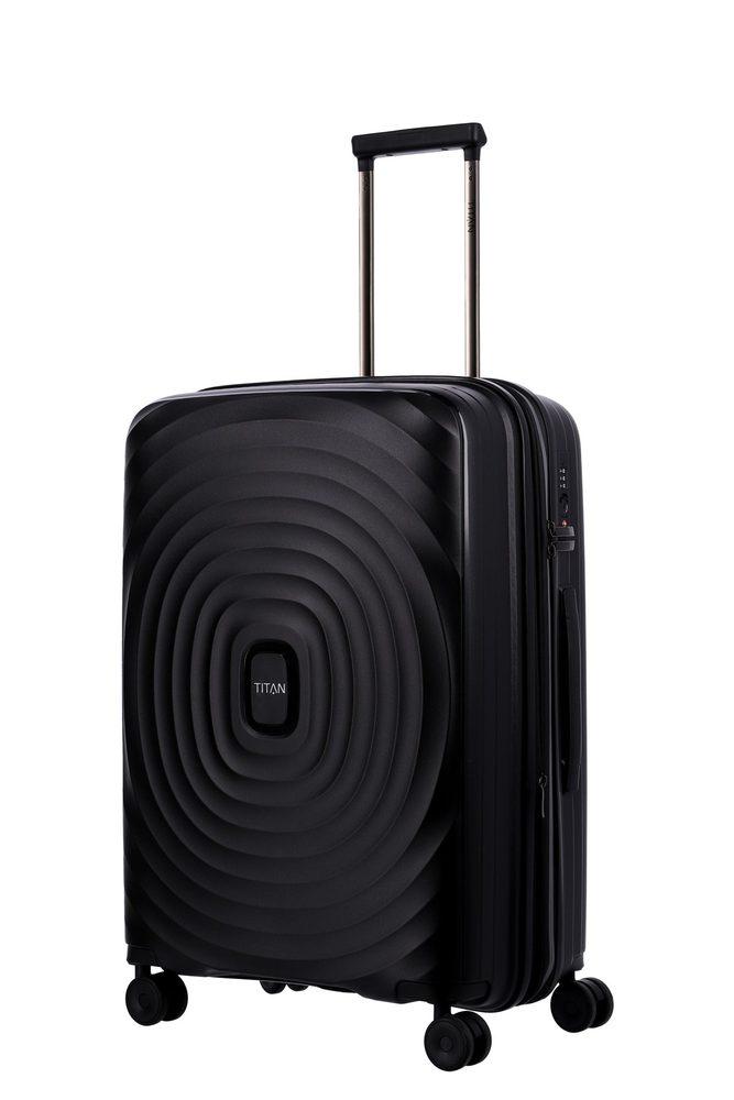 Titan Skořepinový cestovní kufr Looping M Black 71/82 l