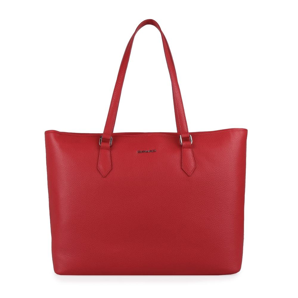 GALKO Dámská kožená kabelka přes rameno 13-0562 - červená