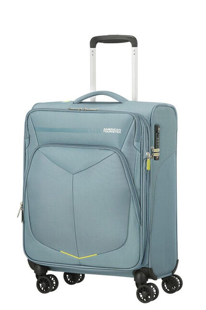 American Tourister Kabinový cestovní kufr Summerfunk Spinner 55/20 EXP TSA - světle šedá