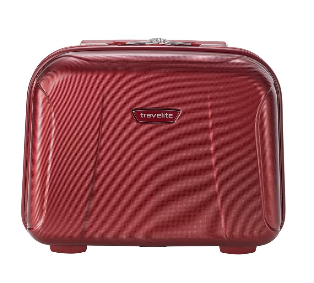 Travelite Kosmetický kufřík Elbe Beautycase Red 19 l