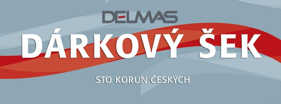 Dárkový šek DELMAS - 100 Kč