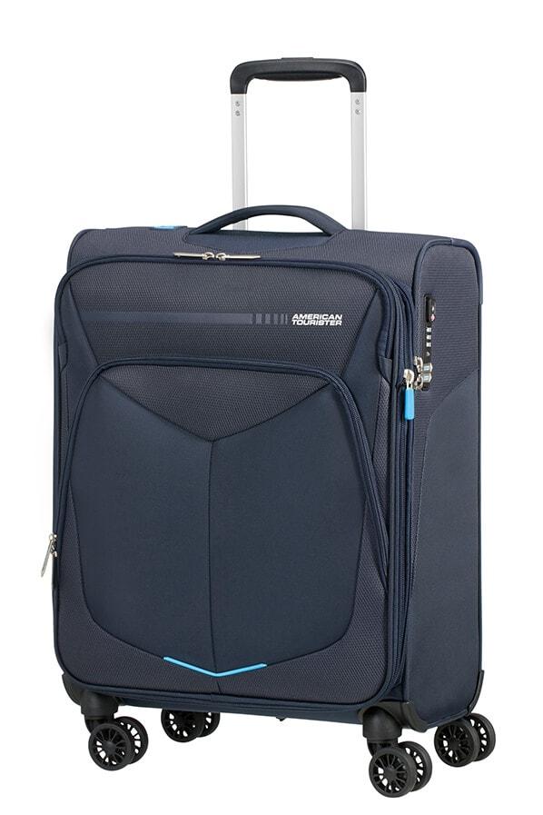 American Tourister Kabinový cestovní kufr Summerfunk Spinner 55/20 EXP TSA - tmavě modrá