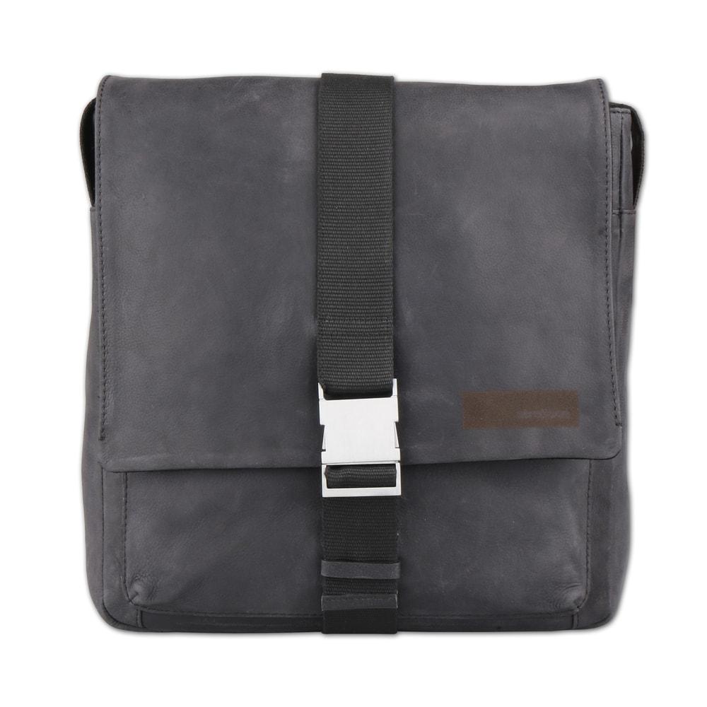 Strellson Pánská kožená taška přes rameno Goldhawk 4010002333 - černá