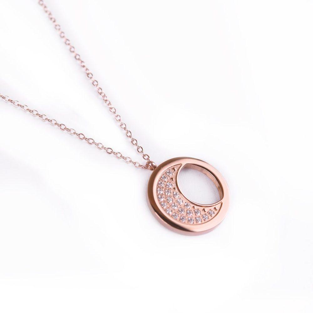 Vuch Dámský náhrdelník Rosegold moon