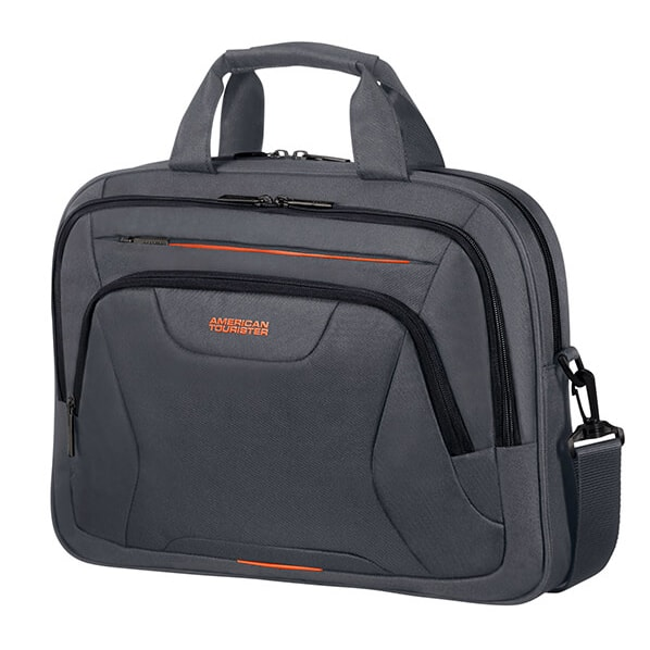 "American Tourister Taška na notebook At Work Laptop Bag 33G 15 l 15.6"" - šedá/oranžová"