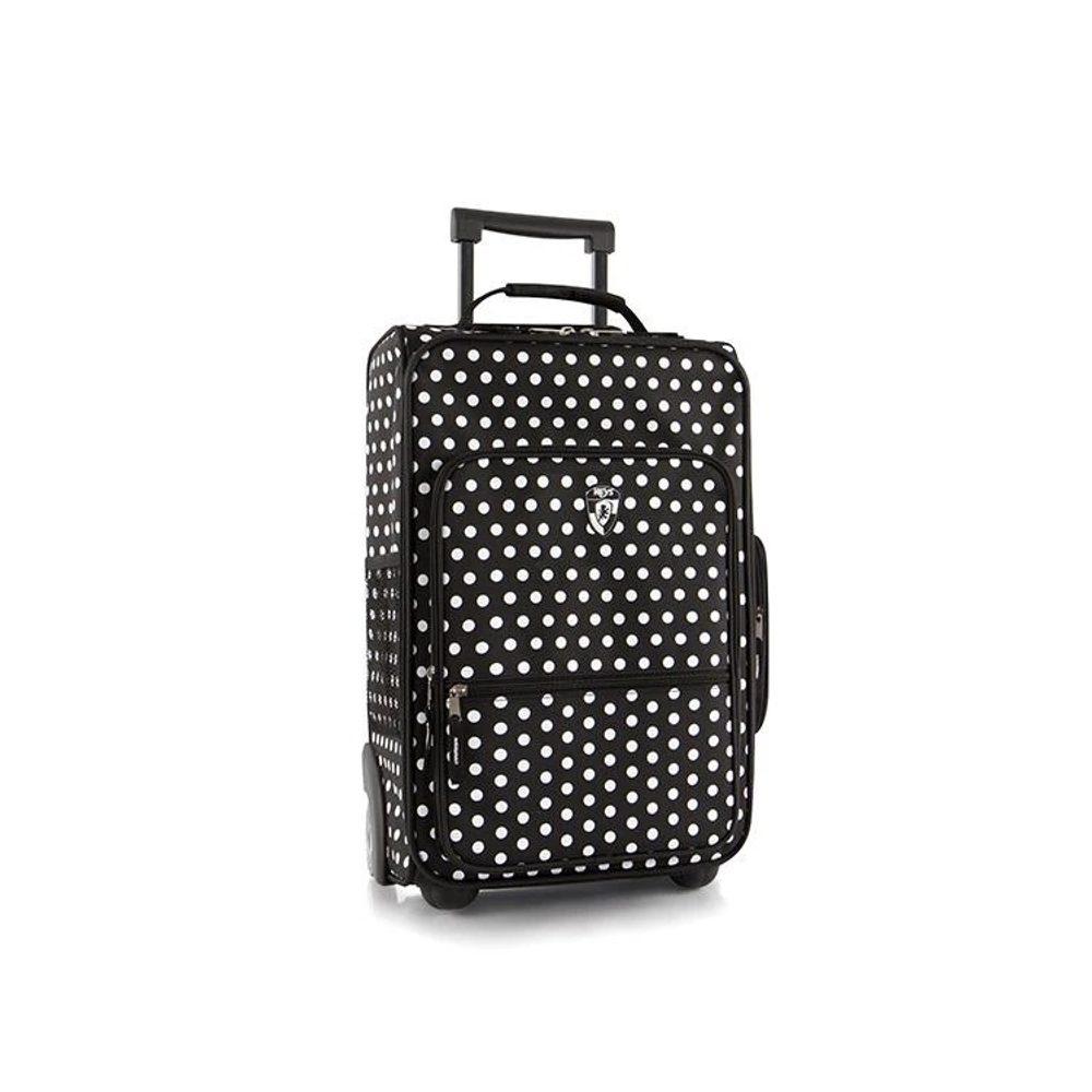 Heys Dětský textilní kabinový kufr Fashion Black/White Dots 20 l