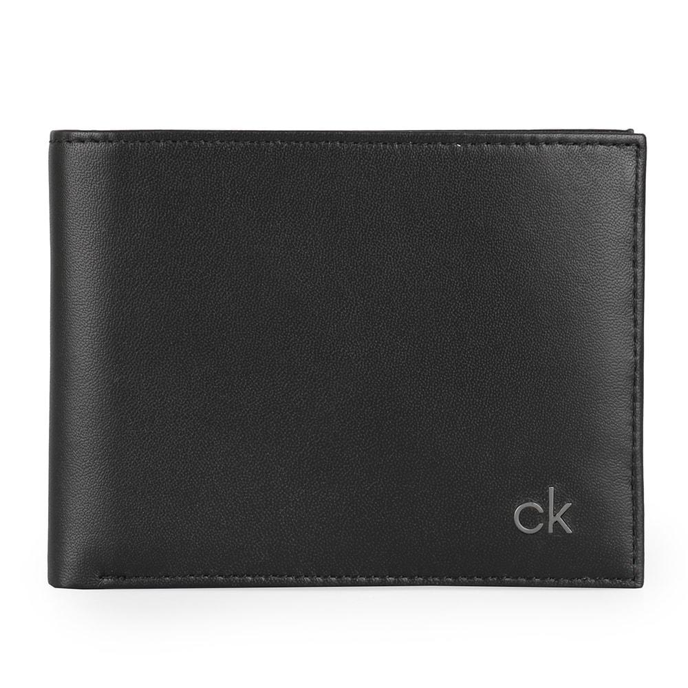 Calvin Klein Pánská kožená peněženka Smooth CK K50K504296 - černá