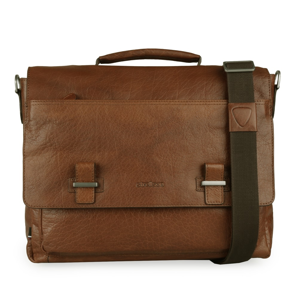 Strellson Pánská kožená taška přes rameno Sutton 4010002570 - koňaková