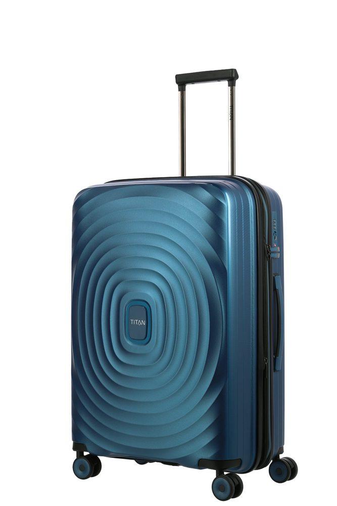 Titan Skořepinový cestovní kufr Looping M Petrol 71/82 l