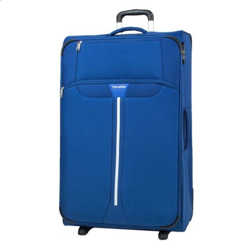 Travelite Látkový cestovní kufr Speedline 2w L Navy 95 l