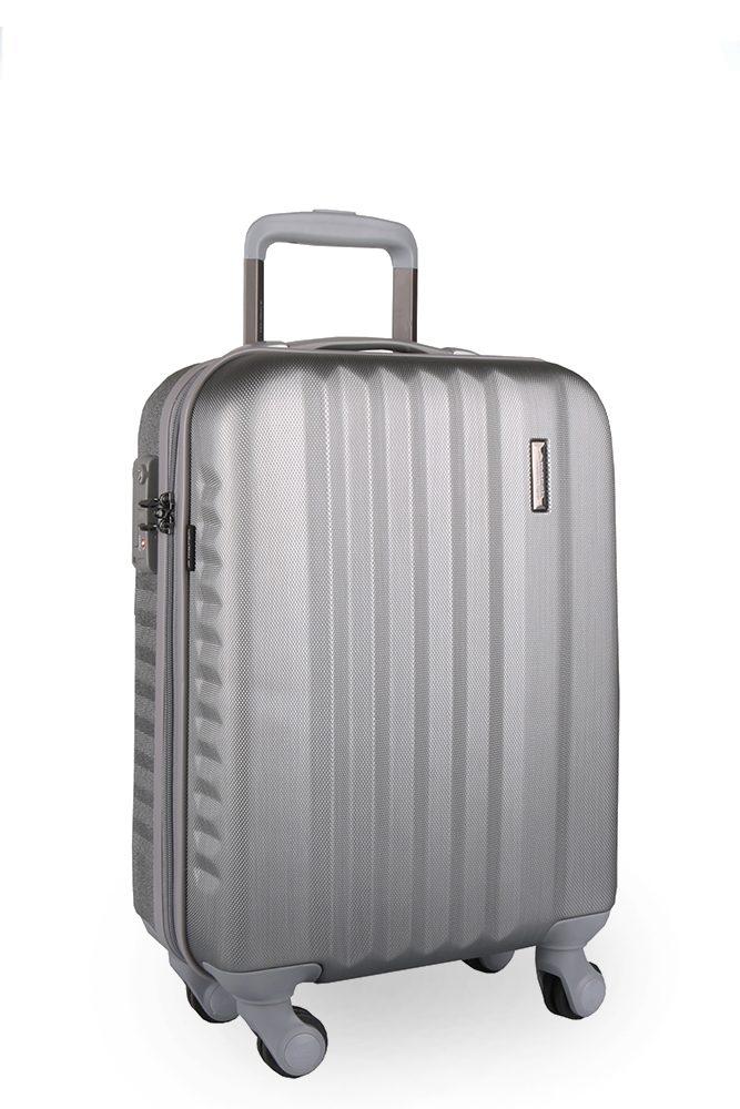 March Kabinový cestovní kufr S Ribbon SE 34,5 l - stříbrná