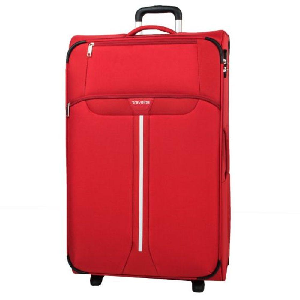 Travelite Látkový cestovní kufr Speedline 2w L Red 95 l