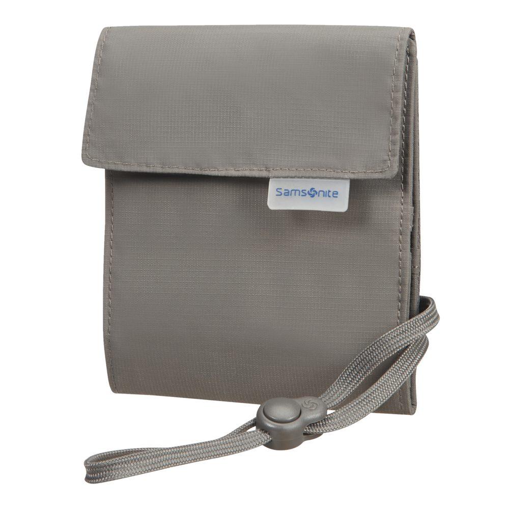 Samsonite Bezpečnostní kapsička na krk RFID Multi-Pocket - šedá