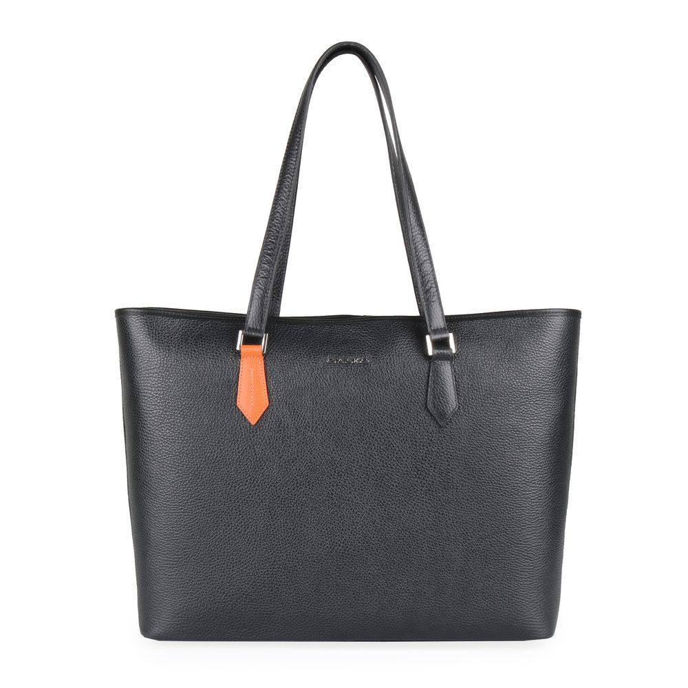 GALKO Dámská kožená kabelka přes rameno 13-0562 - černá