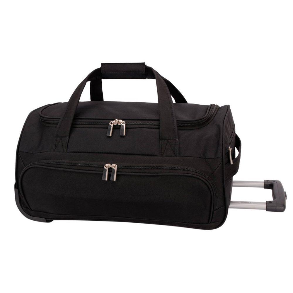 David Jones Paris Cestovní taška na kolečkách B-999 40 l - černá