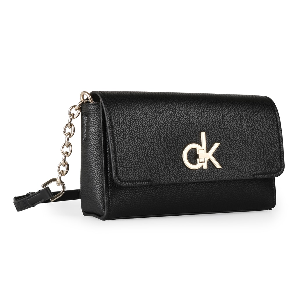 Calvin Klein Dámská crossbody kabelka Re-Lock Flap K60K605608 - černá