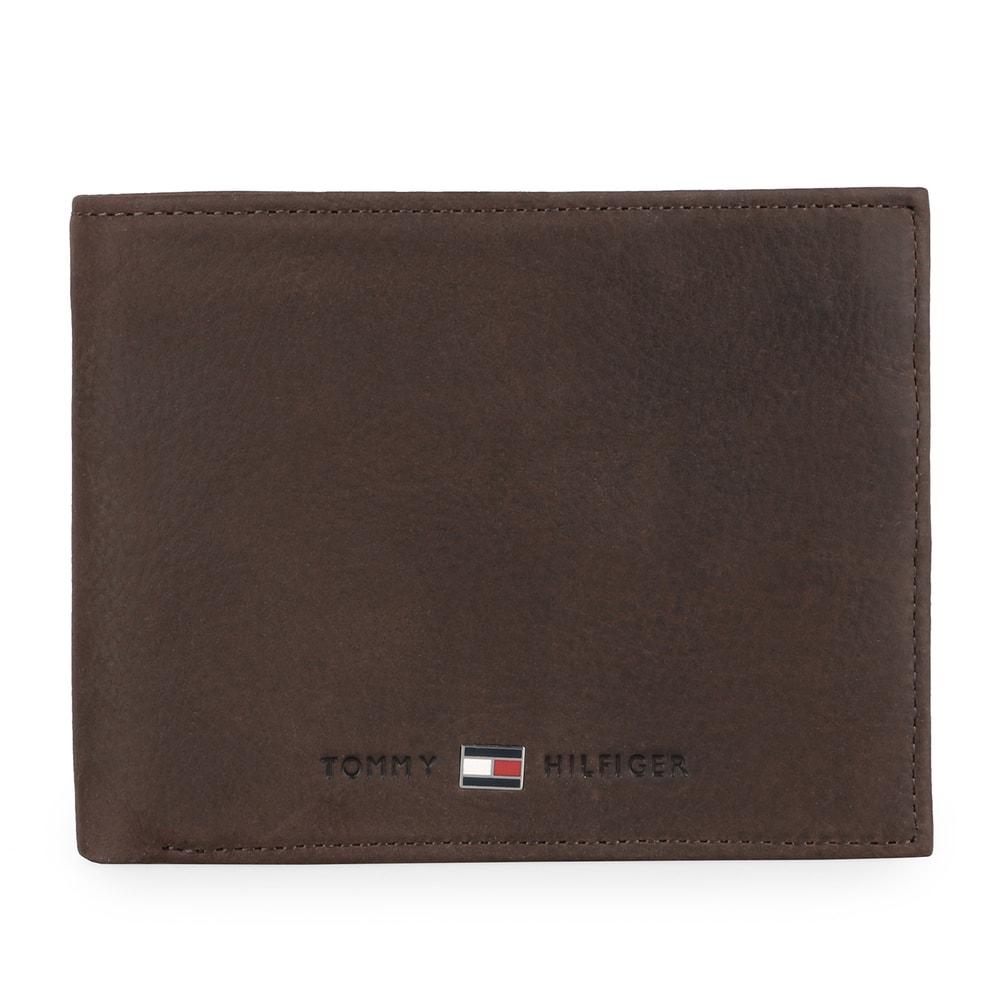 Tommy Hilfiger Pánská kožená peněženka Johnson Flap AM0AM00660 - hnědá
