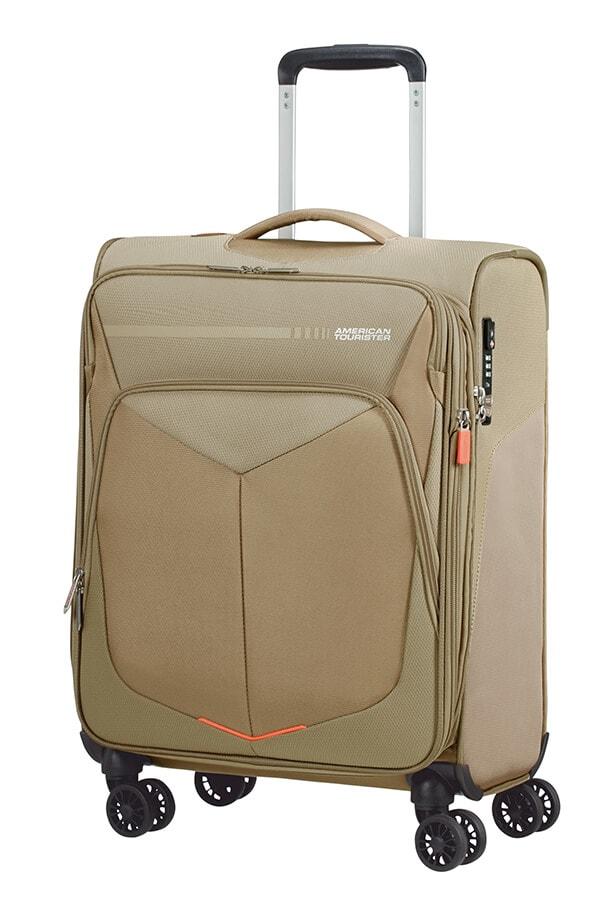 American Tourister Kabinový cestovní kufr Summerfunk Spinner 55/20 EXP TSA - béžová