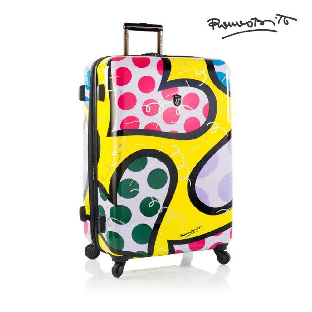 Heys Skořepinový cestovní kufr Britto Hearts Carnival L 100 l