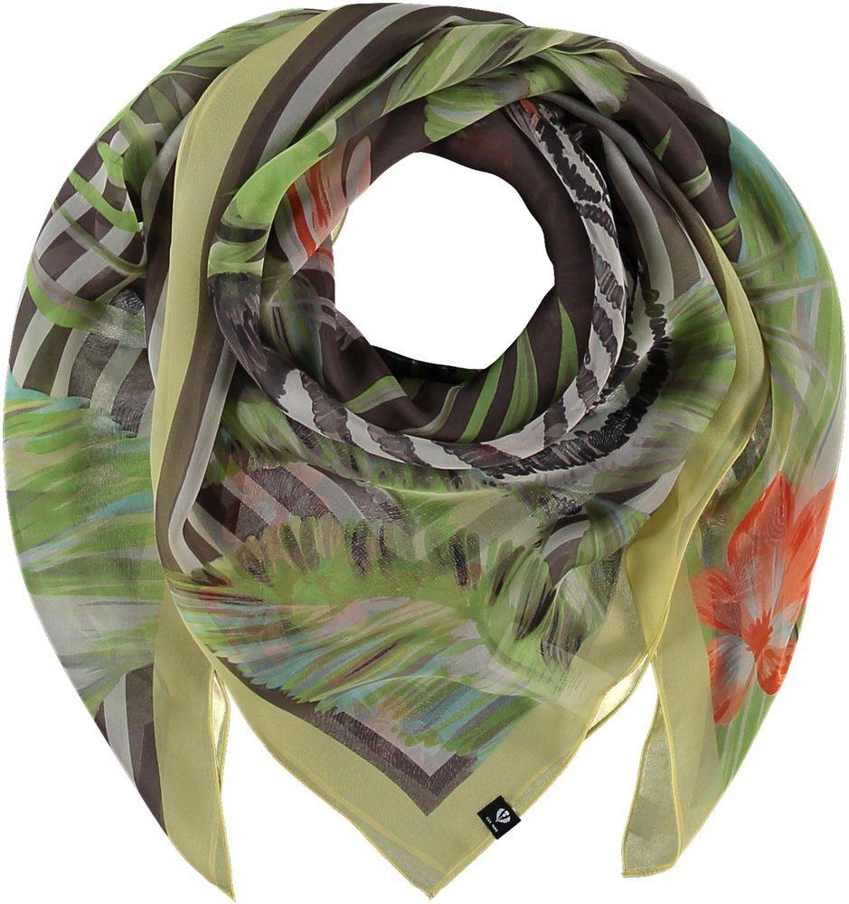 Fraas Dámský hedvábný čtvercový šátek 632009 - taupe