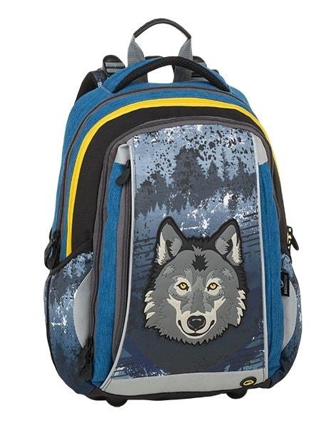 Bagmaster Školní batoh MERCURY 9 C GRAY/BLUE/YELLOW 19 l