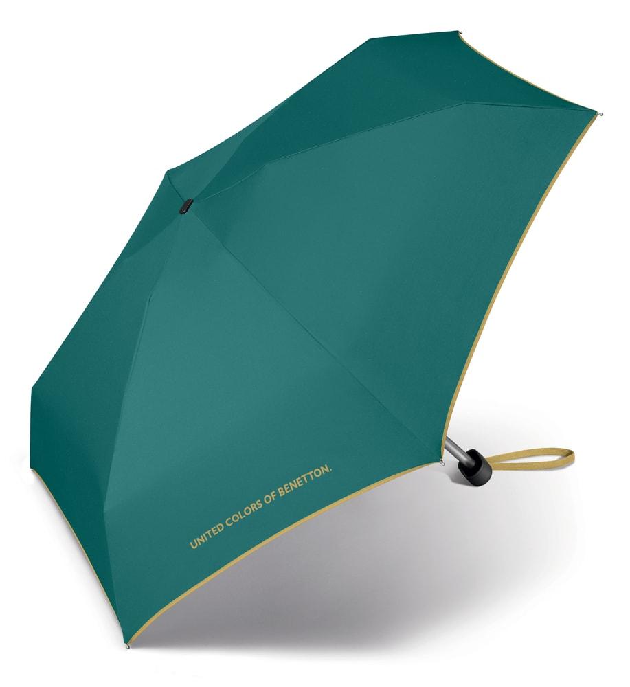 United Colors of Benetton Malý skládací deštník 56404 - tyrkysová