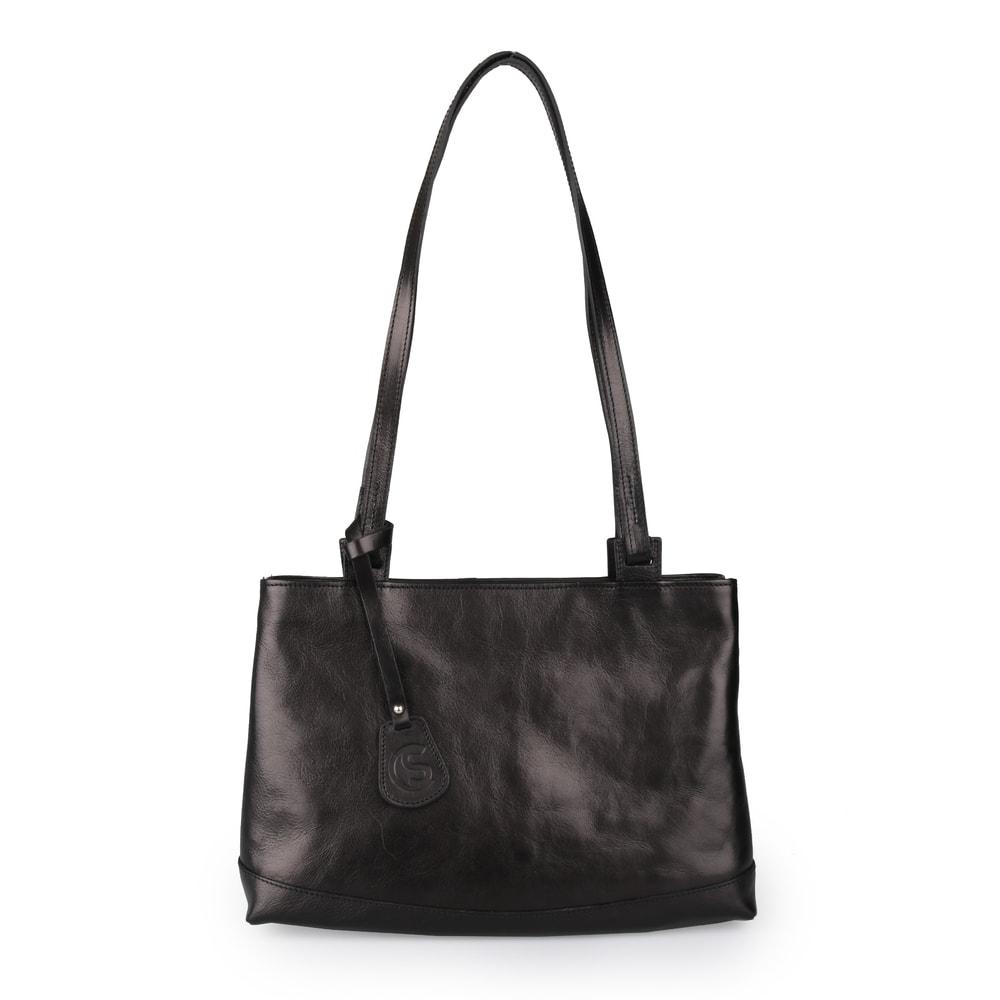 Sněžka Náchod Dámská kožená kabelka přes rameno 5075 - černá