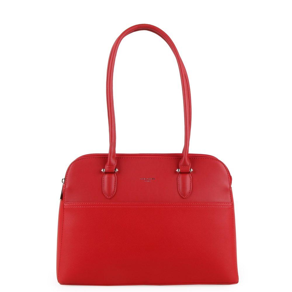 David Jones Paris Dámská kabelka přes rameno 6221-4 - červená