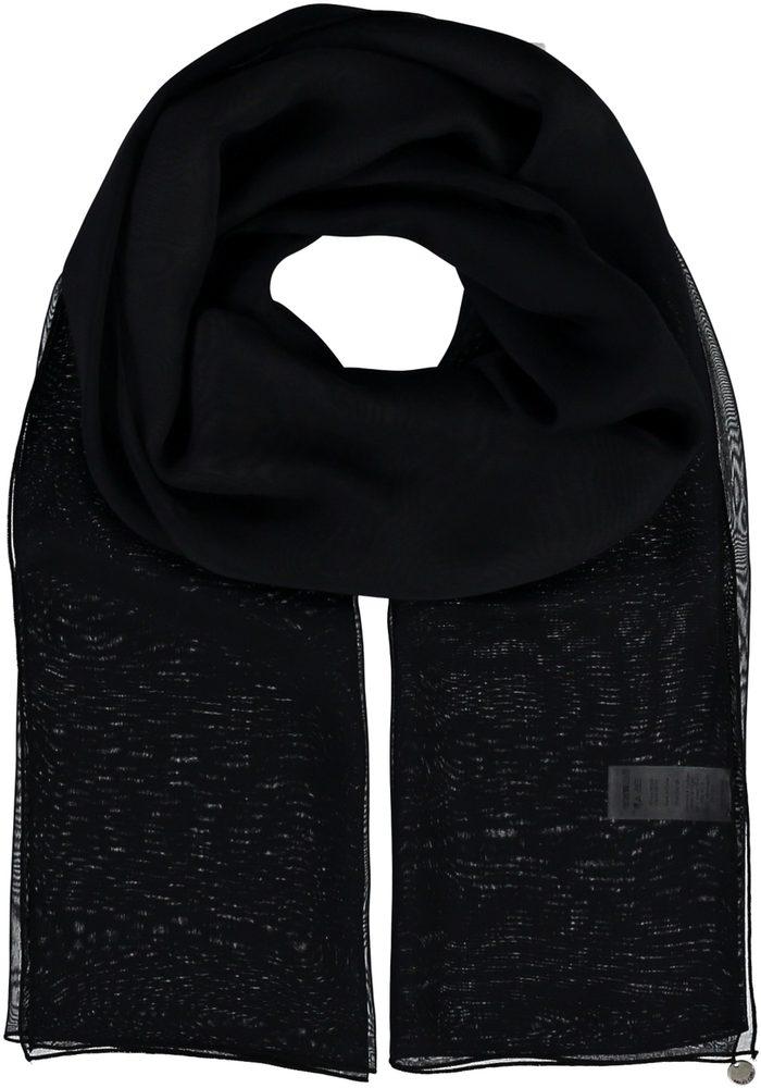 Fraas Dámský hedvábný obdélníkový šátek 622180 - černá