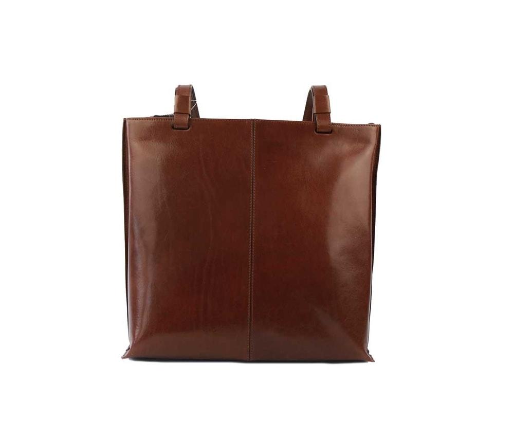 Elega Dámská kožená kabelka přes rameno 67905 - hnědá