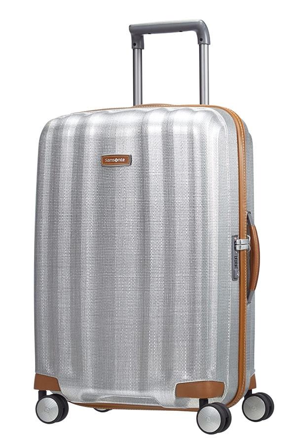 Samsonite Cestovní kufr Lite-Cube DLX Spinner 82V 67,5 l - stříbrná