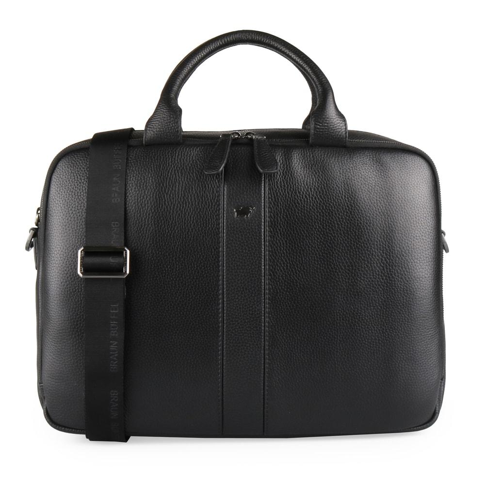Braun Büffel Pánská kožená taška na notebook Turin 60122S-648 - černá